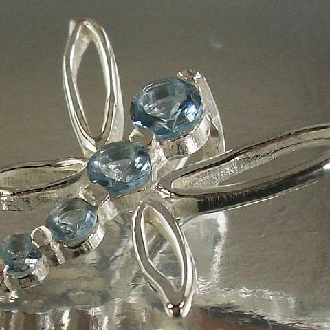 Sterling Silver 925 and blue CZ Dragonfly Charm Pendant