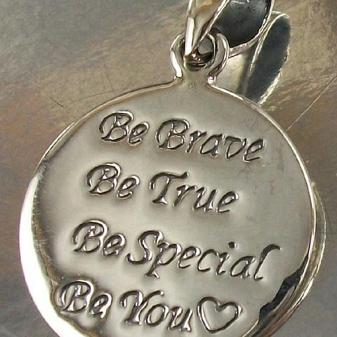 Sterling Silver Be Brave Be True Be Special Be You Charm Pendant