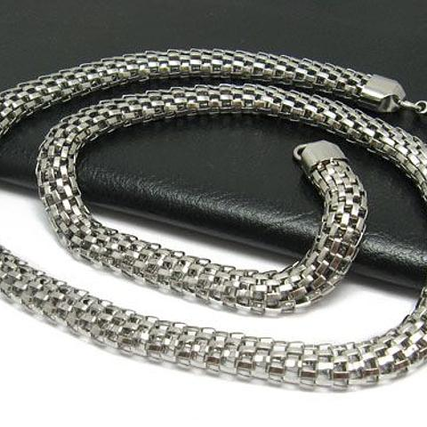 Stainless Steel 316L Grade intricate Mesh Design Necklace 50cm